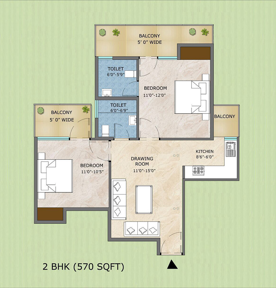 3bhk Floor Type - D