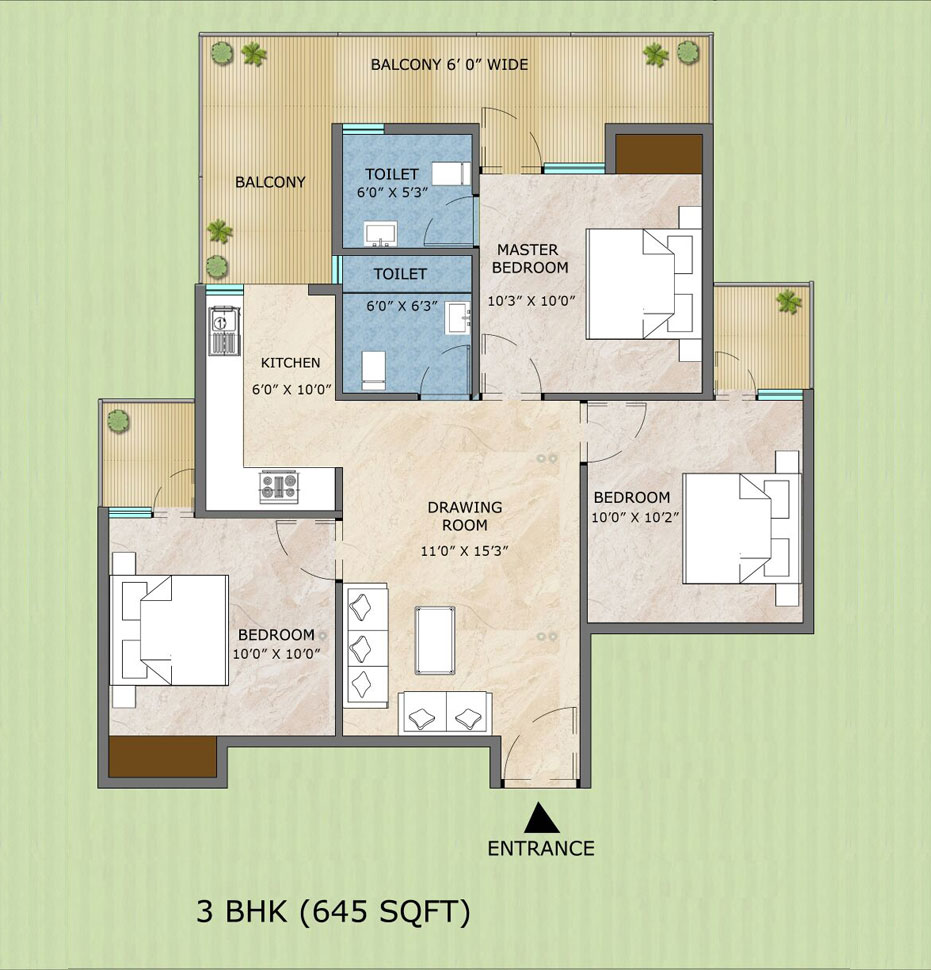 3bhk Floor Type - C